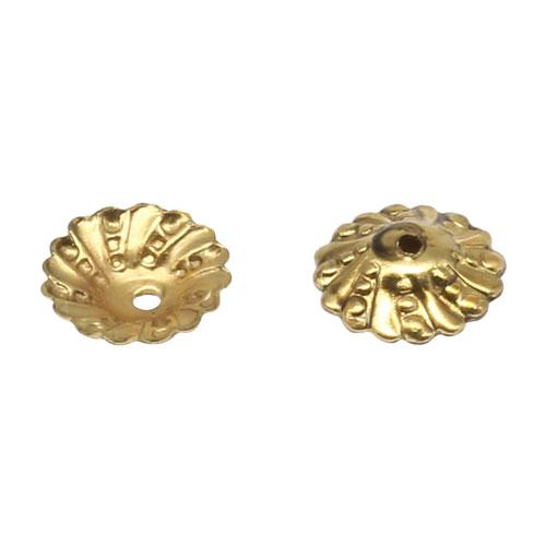 17-0010 Окончания (шапочки для бусин) золото 9*2мм