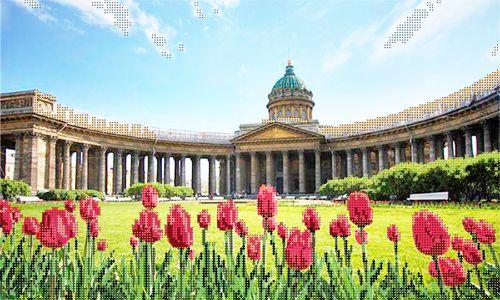 71096 Канва с рисунком Gluriya 'Казанский собор' 40*24 см