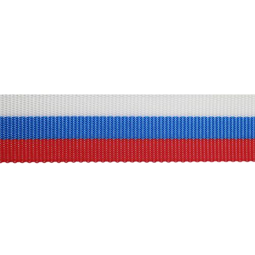 С3569 Лента для ремней (стропа) рис.8516 триколор 40мм*25м
