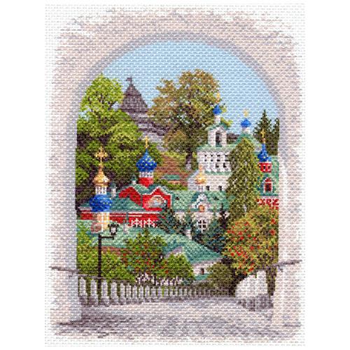 1644 Канва с рисунком Матренин посад 'Псково-Печерская лавра' 37*49см