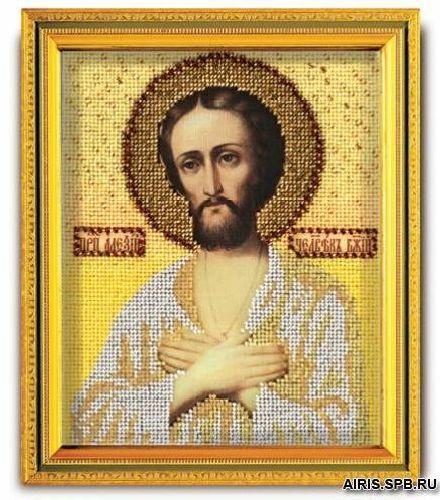 В321 Набор для вышивания бисером 'Кроше' 'Св. Алексий', 12х14,5 см