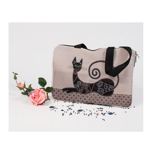 8523 Набор для шитья и вышивания текстильная сумка Матренин Посад 'Сфинкс' 26*37см