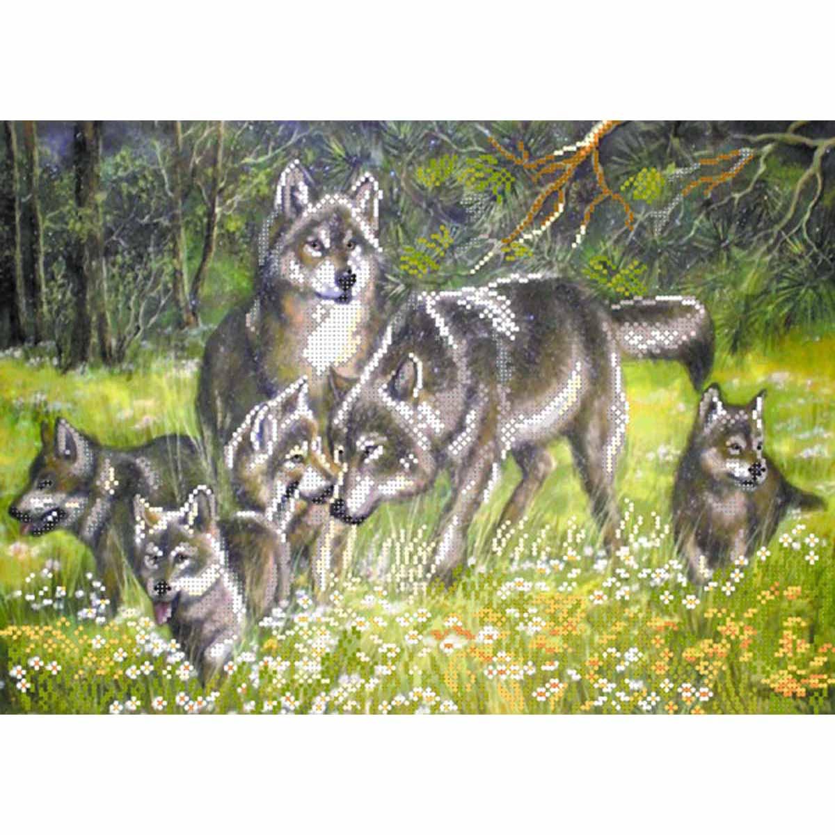 4004 Рисунок на шелке Матренин посад 'Волки' 33*45см (37*49см)