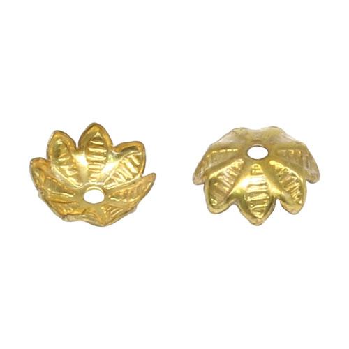 17-0014 Окончания (шапочки для бусин) золото 9*3мм