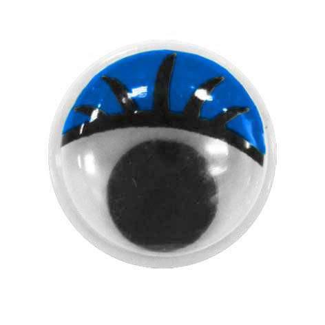 TEY-019 Глаза бегающие с цветным веком 12мм