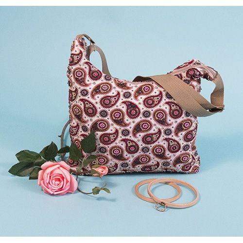 8517 Набор для шитья и вышивания текстильная сумка 'Матренин Посад' 'Пейсли', 32,5*25,5 см