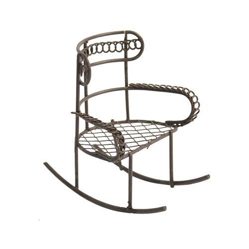 KB2761 Металлическое кресло-качалка, корич. 7*5*8см Астра