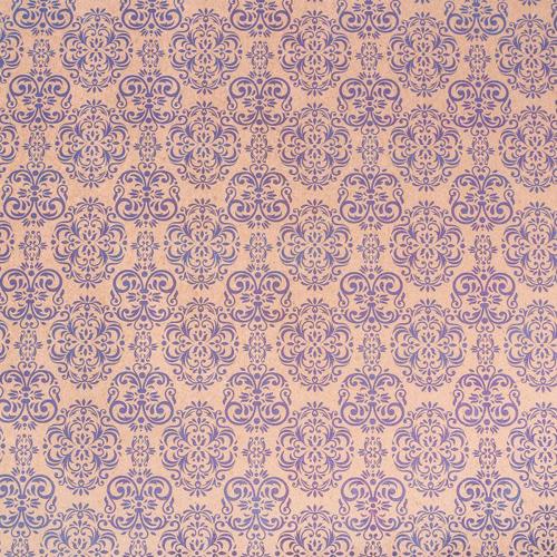 2763318 Бумага крафт 'Синий дамаск', 50х70 см