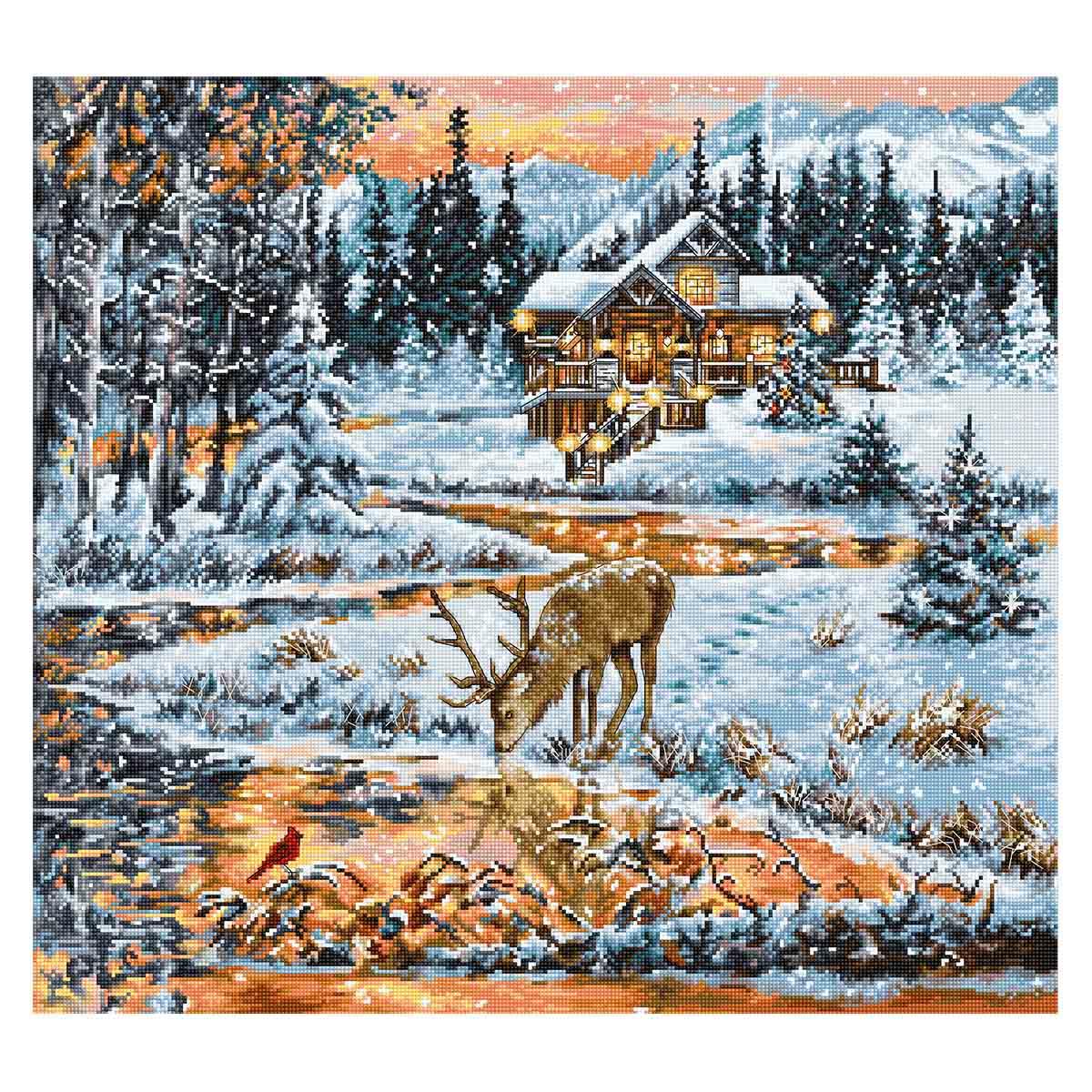BU4022 Набор для вышивания 'Хижина в лесу' 43,5*40см, Luca-S
