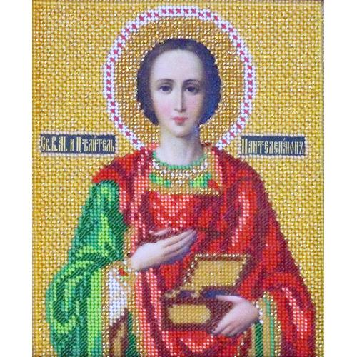 В328 Набор для вышивания бисером 'Кроше' 'Св. Пантелеймон', 12х14,5 см