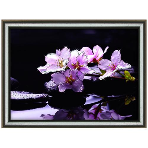 КС1073 Набор для изготовления картины со стразами Crystal Art Отражение красоты