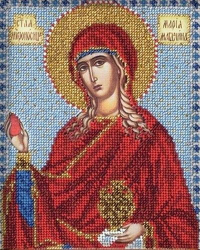 В330 Набор для вышивания бисером 'Кроше' 'Св. Мария', 12х14,5 см