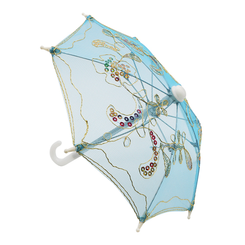 248041435 Аксессуар для декора Зонтик H20,5 D27 голубой