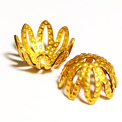 17-0026 Окончания (шапочки для бусин) золото 11*6мм