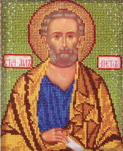 В332 Набор для вышивания бисером 'Кроше' 'Св. Петр', 12х14,5 см