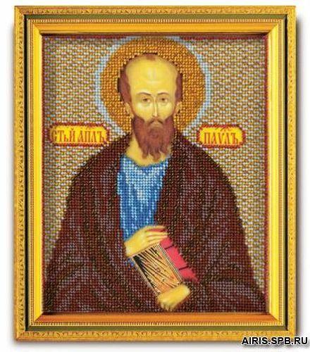 В333 Набор для вышивания бисером 'Кроше' 'Св. Павел', 12х14,5 см