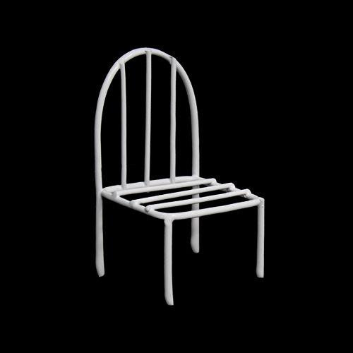 KB4248 Металлический мини стул, белый 4,5*3,5*2,5*7,5см Астра
