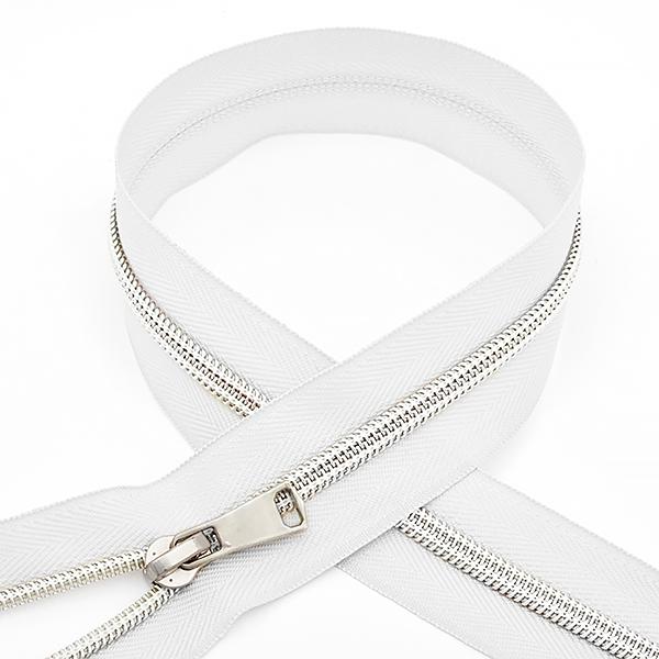 Молния MaxZipper спираль №5 декор. 45см цв.F101 белый, ДЕКN545F101