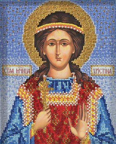 В334 Набор для вышивания бисером 'Кроше' 'Св. Кристина', 12х14,5 см