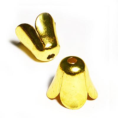 17-0033 Окончания (шапочки для бусин) золото 10*11мм