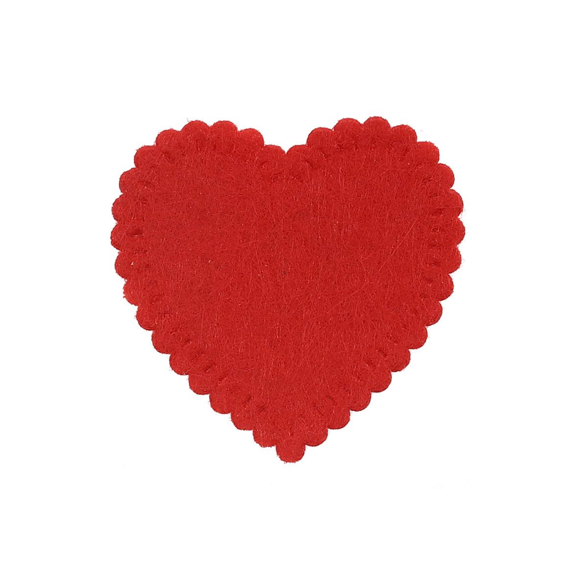 26856 Набор декоративных элементов из фетра 'Сердце большое' , 30*30мм*0,5мм , 8шт