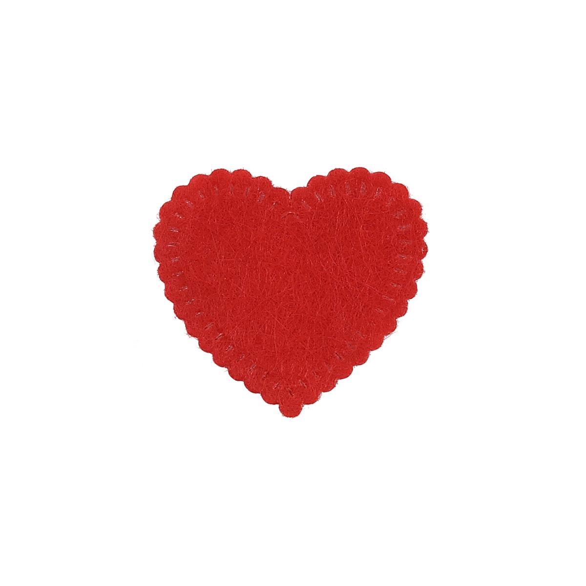 26855 Набор декоративных элементов из фетра 'Сердце маленькое' , 25*25мм*0,5мм , 10шт