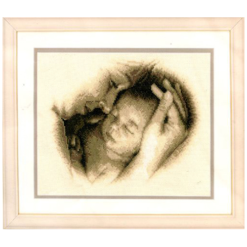 PN-0012175 Набор для вышивания Vervaco 'Мать и дитя' 26x21см