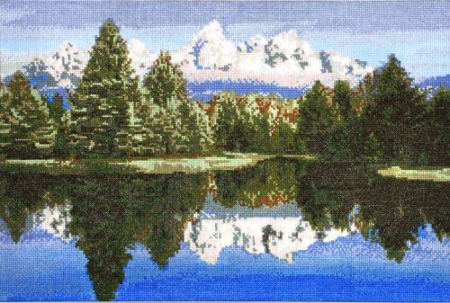 693 Набор для вышивания Hobby&Pro 'Горное озеро', 42*29 см