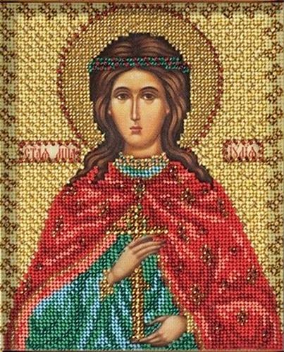 В337 Набор для вышивания бисером 'Кроше' 'Св. Юлия', 12х14,5 см