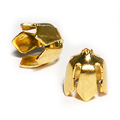 17-0037 Окончания (шапочки для бусин) золото 5*4мм