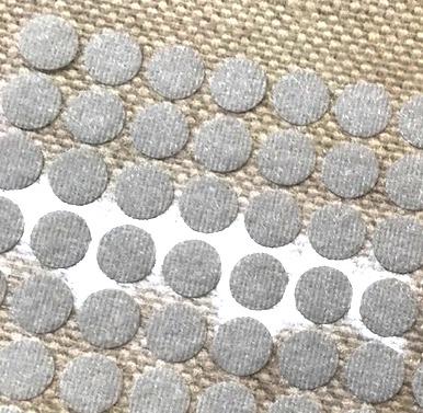 28840 Лента контактная мини клеевая, диаметр-10 мм, уп/10шт