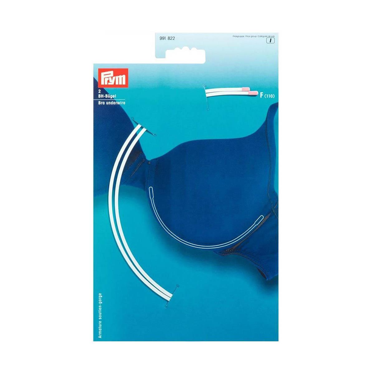 991822 Косточки для бюстгальтера, размер F (110), белый, упак./2 шт., Prym