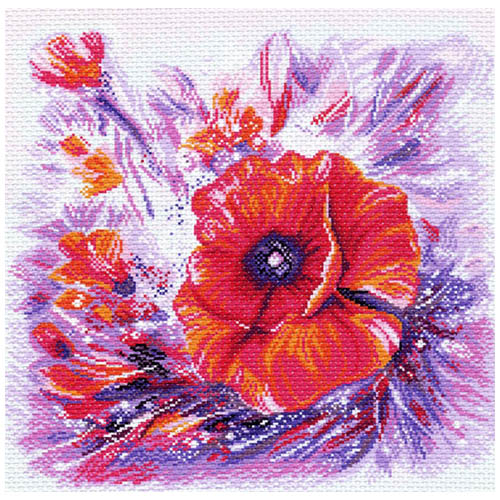 1367 Канва с рисунком Матренин посад 'Цветной круговорот' 41*41см