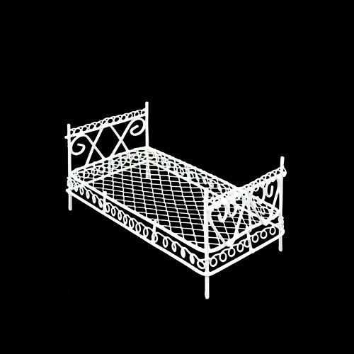 KB2227-RU Металлическая мини кровать, белая 10,5*6*5,5см Астра