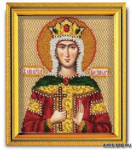 В340 Набор для вышивания бисером 'Кроше' 'Св. Александра', 12х14,5 см