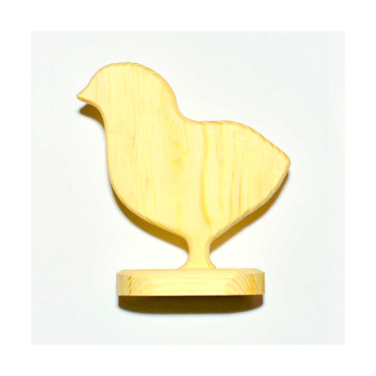 ПР-55 ПРОМЫСЕЛ Заготовка деревянная на подставке 'Цыпленок' 15х10 см