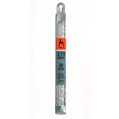 36215 Спицы чулочные 2,75 мм/ 20 см, алюминий, 5 шт PONY
