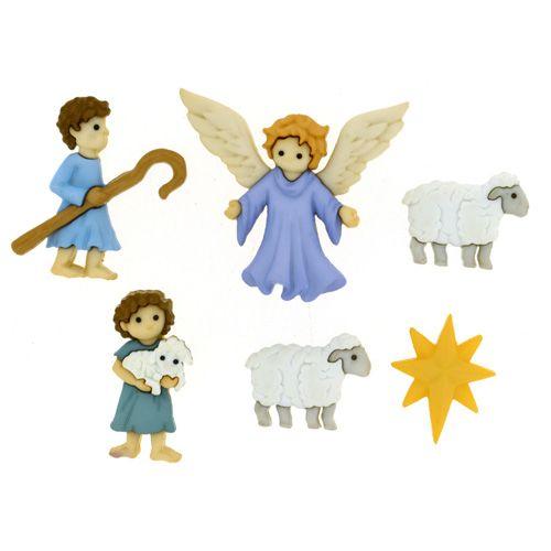 8816, Пуговицы-фигурки. Рождественский пастырь Dress It