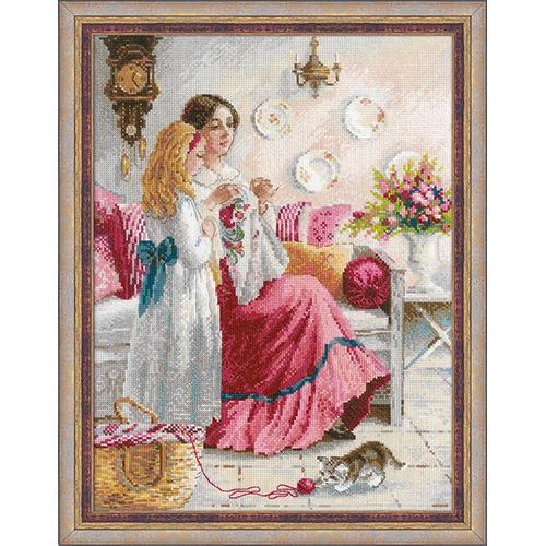 1789 Набор для вышивания Риолис 'Уроки вышивки'30*40см