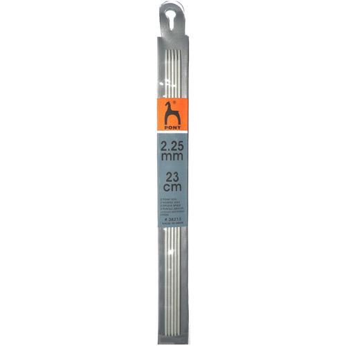 38213 Спицы чулочные 2,25 мм/ 23 см, алюминий, 5 шт PONY