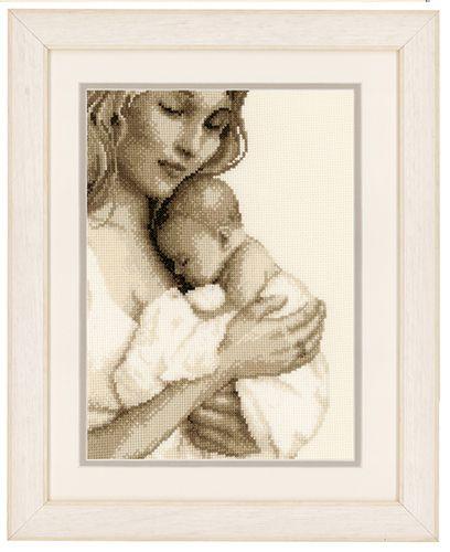 PN-0147890 Набор для вышивания Vervaco 'Мать и дитя' 19x26см