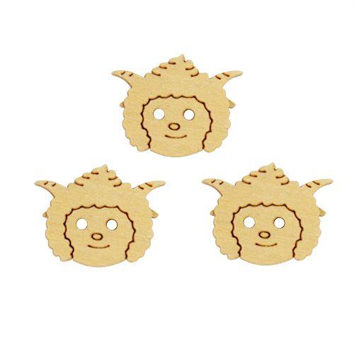 Набор деревянных пуговиц для скрапбукинга 'Овца'