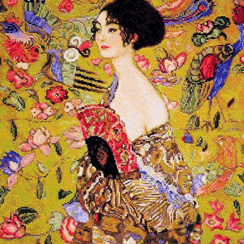 1226 Набор для вышивания Riolis по мотивам картины Г. Климта 'Дама с веером', 35*35 см