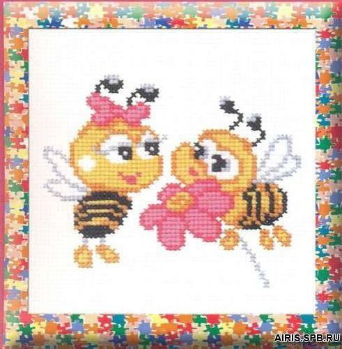 464 Набор для вышивания РС-Студия 'Пчелки' 15*12 см