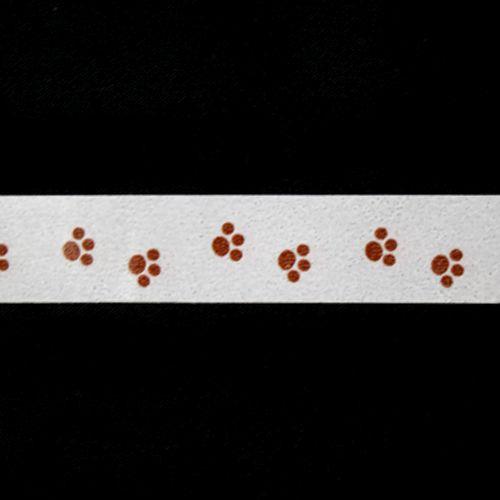 SCB4905015 Бумажный скотч с принтом 'Лапки', Basik&Co, 15 мм*8 м, ScrapBerry's