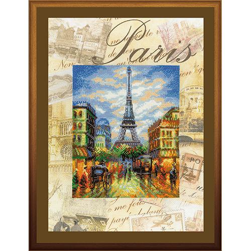 РТ-0018 Набор для вышивания Riolis 'Города мира. Париж', 30*40 см