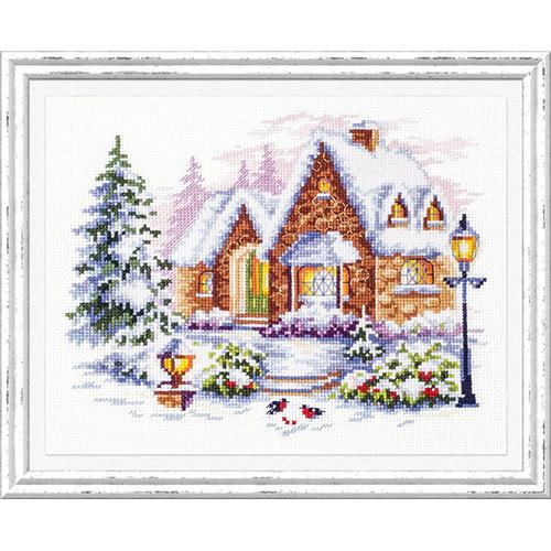 110-041 Набор для вышивания Чудесная игла 'Зимний домик'20х17см