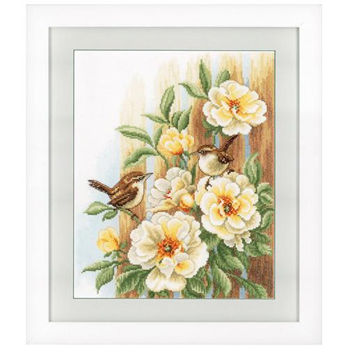 0021782-PN Набор для вышивания Vervaco 'Птицы на розах' 27x33см