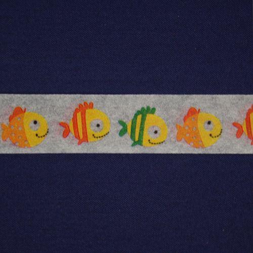 SCB4905010 Бумажный скотч с принтом 'Рыбки-1', Basik&Co, 15 мм*8 м, ScrapBerry's
