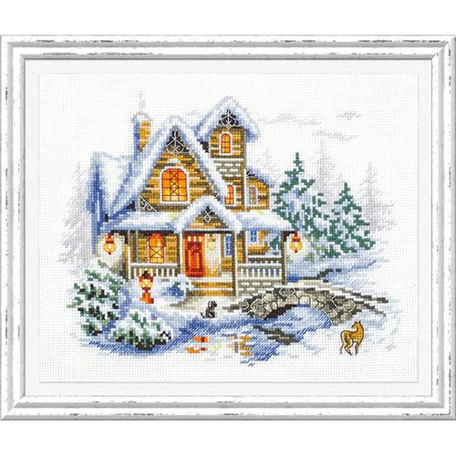 110-042 Набор для вышивания Чудесная игла 'Зимний коттедж'20х17см